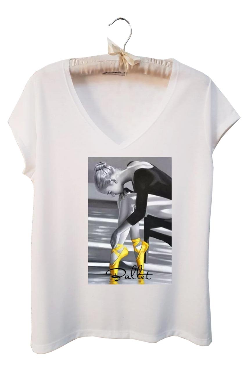t shirt feminina Ballet