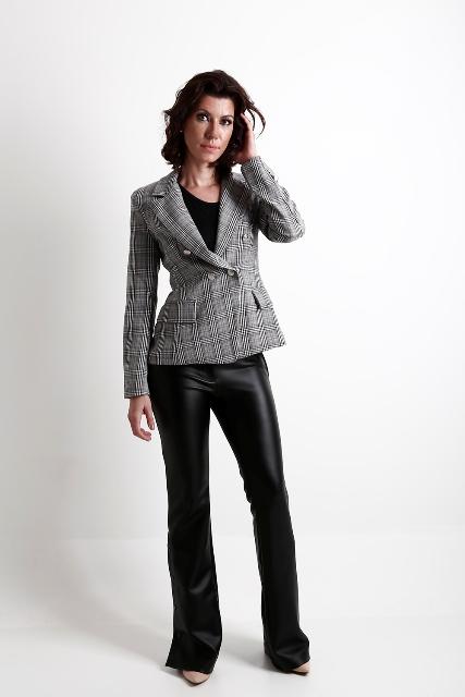 blazer feminino xadres principe de gales