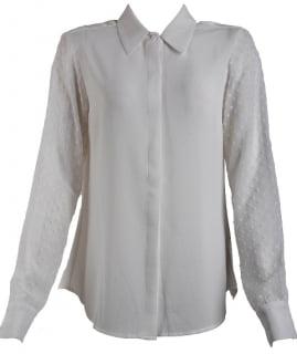 camisa social feminina branca