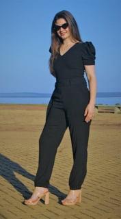 macacão feminino preto