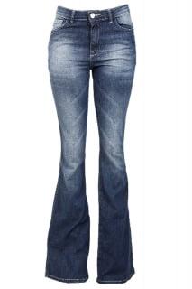 calça jeans flare cintura alta