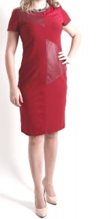vestido de couro midi