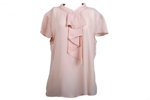 blusa manga curta feminina nude