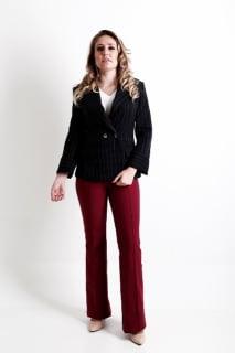 blazer feminino social risca de giz