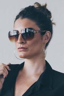 Óculos de sol feminino degrade marrom - e-dress
