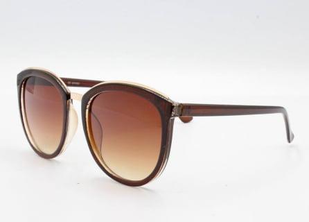Óculos de sol feminino marrom- e-dress