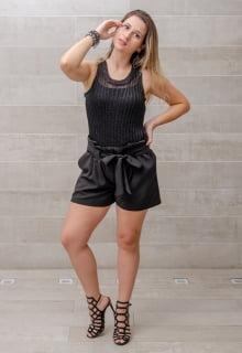 blusa de tricô lurex preta metalizada - Compre sem sair de casa!