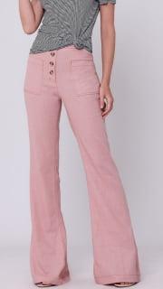 pantalona linho cintura alta